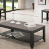 Coffee Table Set With Grey Wood Look Top