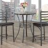 3Pc Marble Top Pub Set