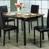 Light Brown Marble Table Dining Set