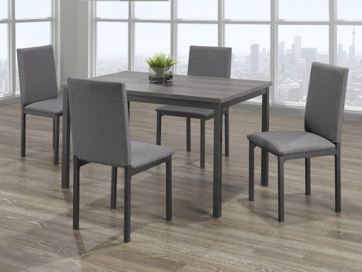 5Pc Grey Colour Distressed Wooden Set