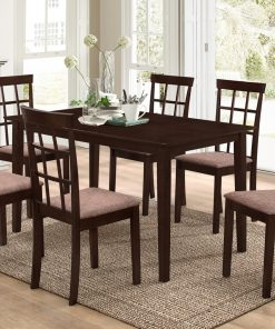 Adjustable Espresso Dining Table Set