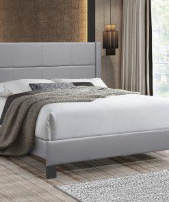 Affordable Stylish PU Platform Bed Grey