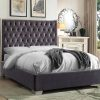 Berlin Luxury Velvet Platform Bed Grey