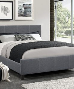 Classico Fabric Platform Bed Dark Grey Colour