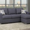 Compact Reversible Grey Sofa Sectional