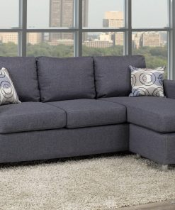 Compact Reversible Grey Sofa Sectional