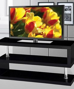 Dos TV Stand Glossy Black