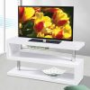 Dos TV Stand in Glossy White