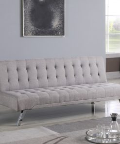 Fabric Grey Colour Klik Klak Sofa Futon