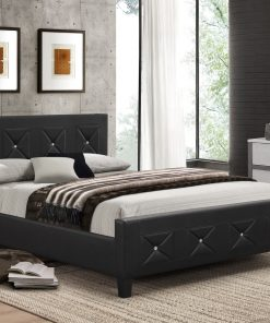 Jewels Classic Platform Bed Black