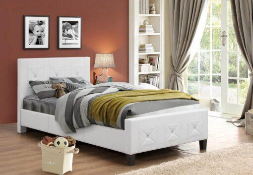 Jewels Classic Platform Bed White Colour
