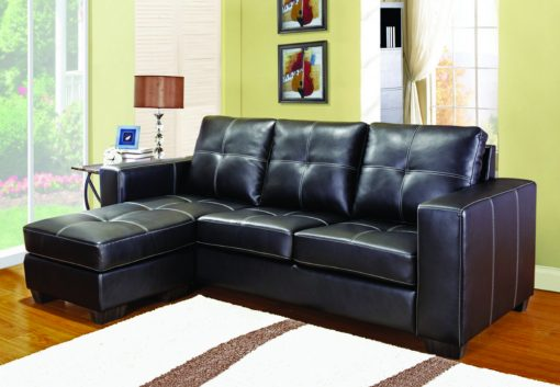 Leather Sectional Sofa Black