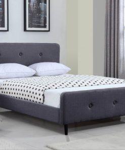 Lurid Queen Grey Colour Platform Bed