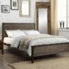 Modern Wood Panel Platform Bed