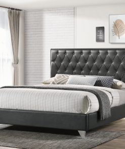 Raya Luxury Platform Bed Leather Fabric