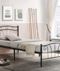Single Child Metal Bed Black