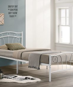 Single Child Metal Bed White