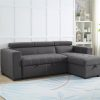 Zara Modern Grey Reversible Sectional Sofa