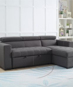 Zara Modern Grey Reversible Sectional Sofa