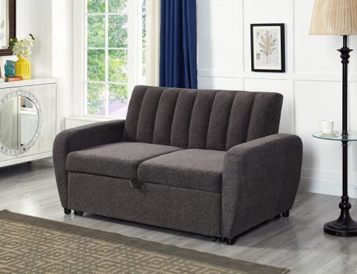 Image depicts The Amaia Grey Sofa Bed - Two Seater which has a classic dark grey style and is a good option for small and medium spaces.