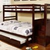 Staircase Twin Over Double Bunk Bed