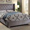 Luxury Velvet Platform Bed