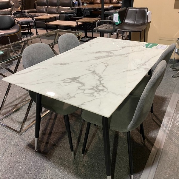 Image depicts a modern dining table.