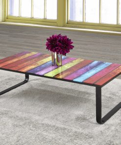 Rainbow Glass Coffee Table