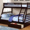 Single/Dpuble Bunk Bed (With Drawers) Espresso Colour
