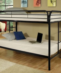 Metal Bunk Bed in Black