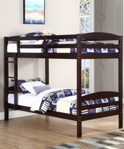 Single/Single Bunk Bed Espresso Colour