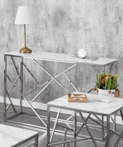 white marble glass sofa table