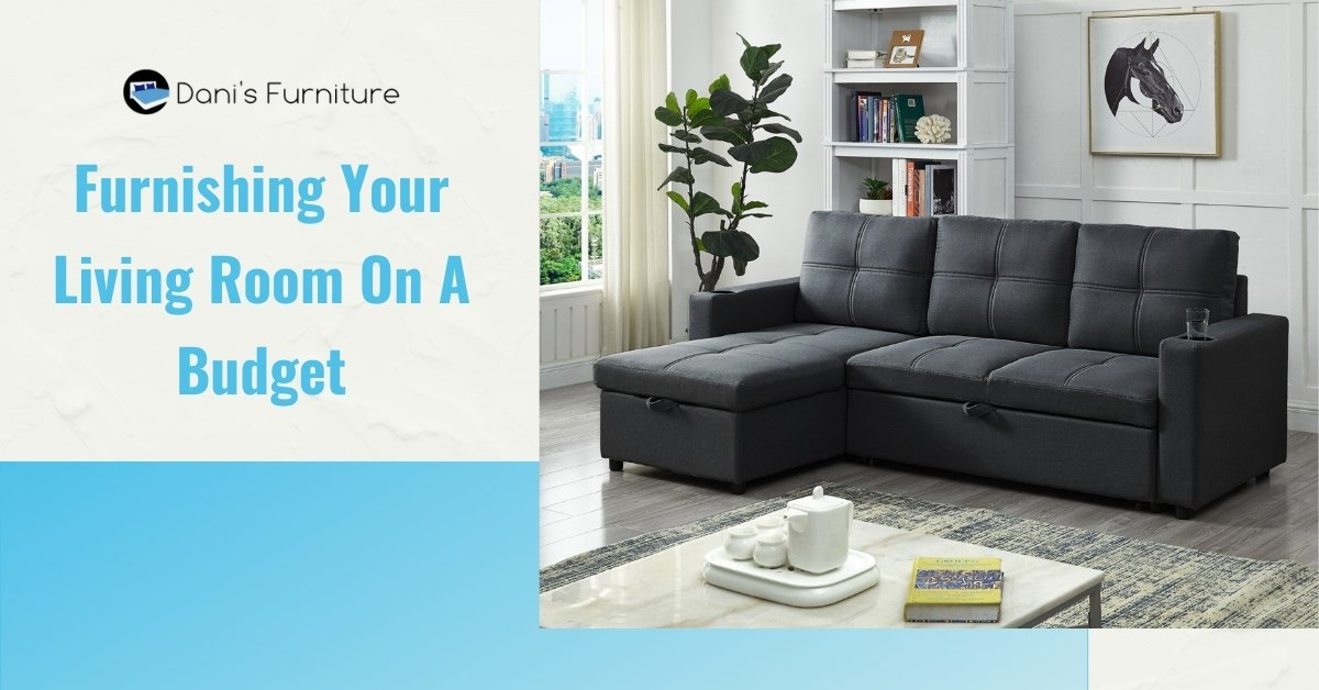 Image depicts the feature image for the blog article Furnishing Your Living Room On A Budget