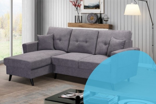 Image depicts a sectional sofa in a Saint John home.