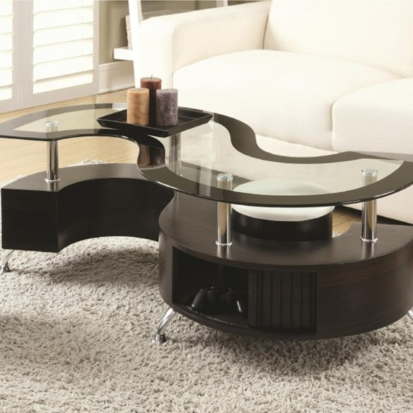 Image depicts a modern coffee table in a Saint John home.