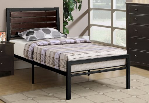 Lizza Platform Bed Metal Black