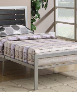 Lizza Platform Bed Metal Grey